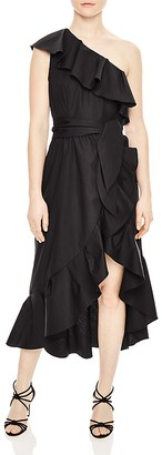 Sandro Lover Ruffled One-Shoulder Dress $470 thestylecure.com