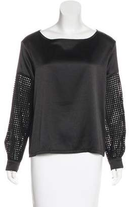 Alexis Long Sleeve Cutout-Accented Top w/ Tags