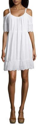 Spense Short Sleeve Swing Dresses