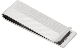 Givenchy Logo Engraved Money Clip - Mens - Silver