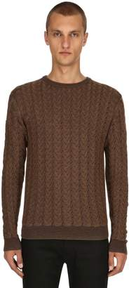 Etro Waved Wool Jacquard Sweater