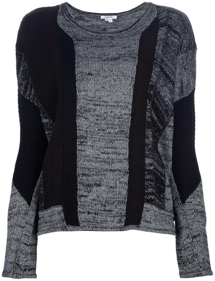 Helmut Lang mixed print sweater