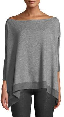 Beyond Yoga Convertible 3/4-Sleeve Draped Sweater