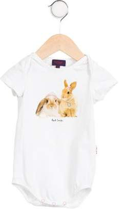 Paul Smith Girls' Bunny Print Short Sleeve All-In-One