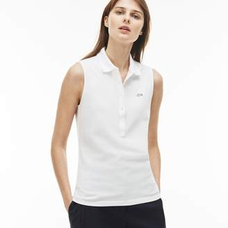 Lacoste Women's Slim Fit Stretch Mini Pique Polo