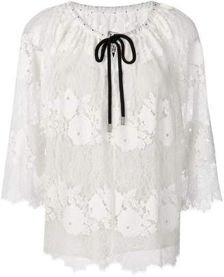 Antonio Marras lace drawstring blouse