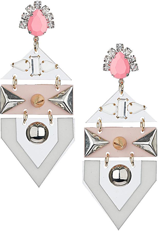 Topshop Plastic Layered Spike Earrings