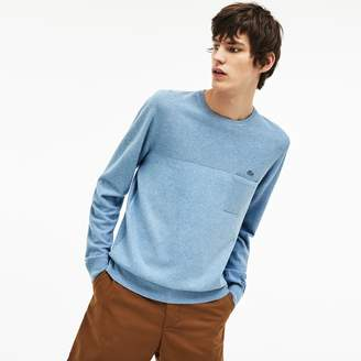 Lacoste Men's Cotton And Linen Knit Sweater