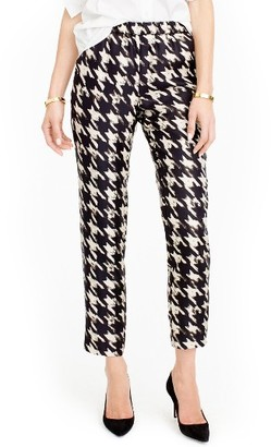 Women's J.crew Forrester Wolfstooth Silk Pants $98 thestylecure.com