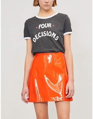 Wildfox Couture Pour Decisions cotton-blend T-shirt