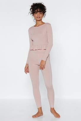 Nasty Gal Give It a Rest Top and Leggings Lounge Set