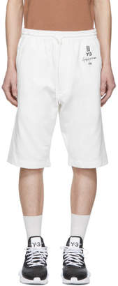 Y-3 White New Classic Shorts