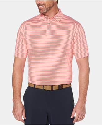 PGA Tour Men Feeder Striped Polo