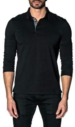 Jared Lang Long Knit Polo Shirt