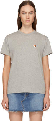 MAISON KITSUNÉ Grey Fox Head Patch T-Shirt
