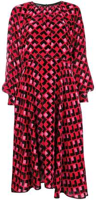 Rochas geometric pattern print dress
