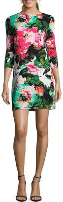 Nicole Miller Women's Floral-Print Pull-On A-Line Dress