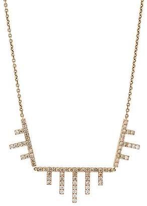 Eva Fehren Women's Ombré Axis Pendant Necklace - Rose