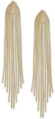 Thalia Sodi Gold-Tone Snake Chain Fringe Drop Earrings, Created for Macy's