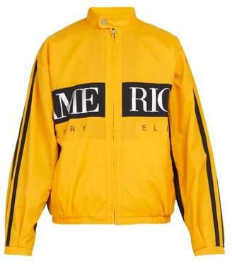 Perry Ellis Logo Print Jacket - Mens - Yellow