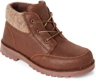UGG Kid Boys) Chocolate Orin Lace-Up Boots