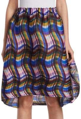 Pleats Please Issey Miyake Stratum Check Bubble Skirt