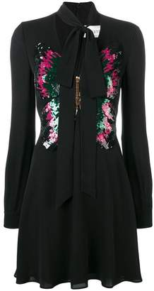 Valentino sequinned butterfly dress