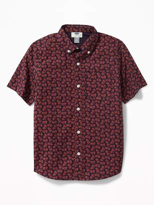 Old Navy Classic Built-In Flex Printed Shirt for Boys