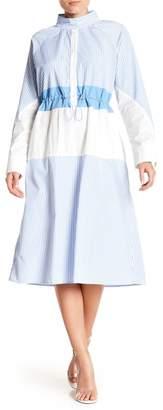 Gracia Stripe Drawstring Waist Dress