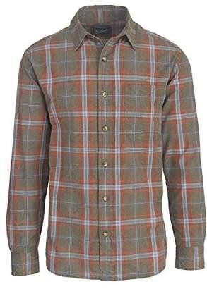 Woolrich Men's Red Creek Long Sleeve Plaid Cotton Shirt Modern Fit