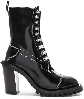 Acne Studios Leather Lace Up Boots in Black | FWRD