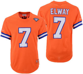 Mitchell   Ness Men John Elway Denver Broncos Mesh Name and Number Crewneck  Jersey 9b087bfda