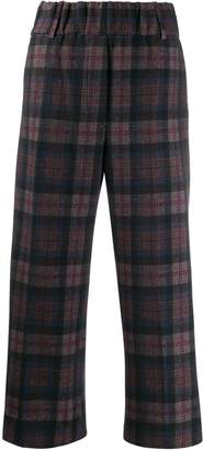 1901 Circolo plaid print cropped trousers