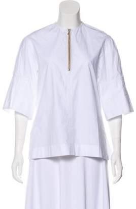 Joseph Crew Neck Short Sleeve Blouse