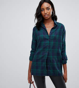 538a6965620003 Missguided Tall exclusive tall oversized boyfriend shirt in check