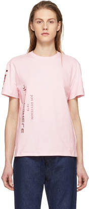 Raf Simons Pink Joy Division Atmosphere Slim T-Shirt