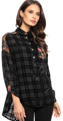 Adore Velvet Burnout Blouse