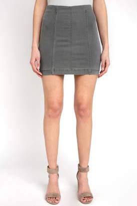 Free People Modern Femme Light Grey Mini Skirt
