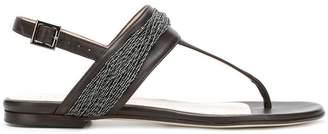 Fabiana Filippi bead embellished T-bar sandals