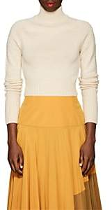 Land of Distraction Women's Dolly Wool Crop Turtleneck Sweater-Ivorybone