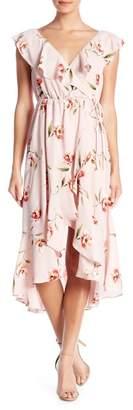 Soprano Ruffle Printed Midi Dress