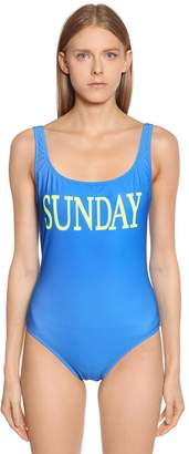 Alberta Ferretti Sunday Lycra One Piece Swimsuit