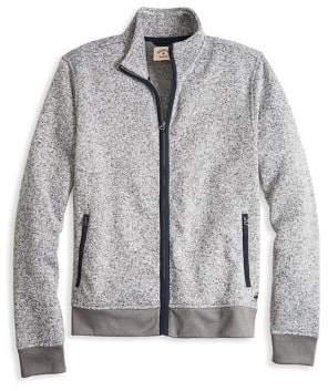 Brooks Brothers Red Fleece Zip Front Fleece Sweater