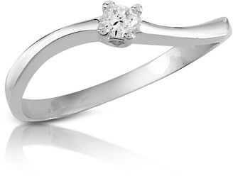 Forzieri 0.07 ct Prong-Set Diamond Solitaire Ring