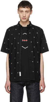 Rag & Bone Black Short Sleeve Smith Shirt
