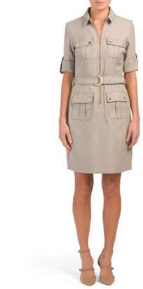 Herringbone Shirt Dress
