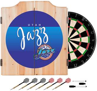 Kohl's Utah Jazz Hardwood Classics Wood Dart Cabinet Set