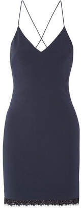 Alice + Olivia Alice Olivia - Lace-trimmed Cady Mini Dress - Navy