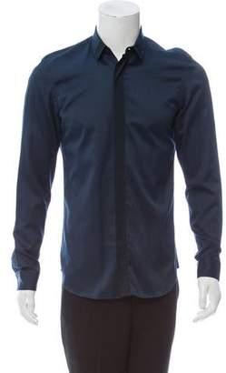 Calvin Klein Collection Contrast Button-Up Shirt
