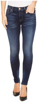 Hudson Nico Mid-Rise Super Skinny Five-Pocket Jeans in Blue Gold Women's Jeans